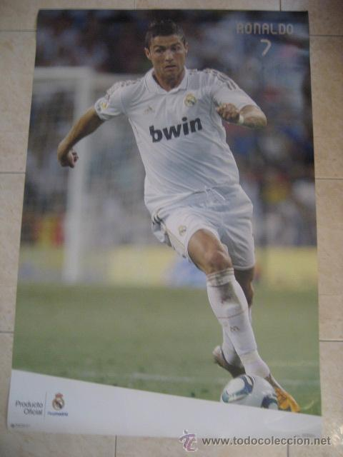 POSTER FUTBOL RONALDO. REAL MADRID (Coleccionismo Deportivo - Carteles de Fútbol)