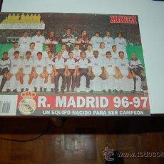 Coleccionismo deportivo: REAL MADRID: PÓSTER DE LA TEMPORADA 96-97. Lote 32945646