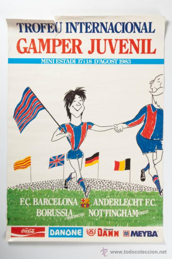 POSTER TROFEU INTERNACIONAL GAMPER JUVENIL - MINI ESTADI, ANY 1983 (Coleccionismo Deportivo - Carteles de Fútbol)