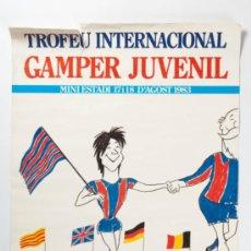Coleccionismo deportivo: POSTER TROFEU INTERNACIONAL GAMPER JUVENIL - MINI ESTADI, ANY 1983. Lote 33105424
