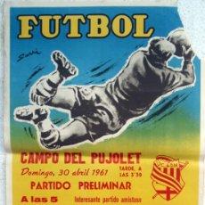 Coleccionismo deportivo: CARTEL FUTBOL , TARRAGONA UD MANRESA 1961 , ORIGINAL. Lote 33107227