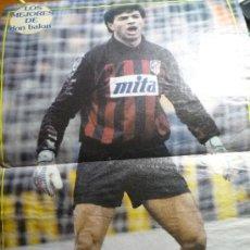 Coleccionismo deportivo: POSTER REVISTA D.BALON ABEL PORTERO DEL AT.MADRID. Lote 33125896