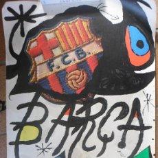 Coleccionismo deportivo: CARTEL POSTER 75 ANIVERSARIO CF BARÇA F.C BARCELONA FC MIRO ORIGINAL AÑO 1974 FUTBOL CLUB 99 X 69. Lote 34071194