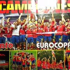 Coleccionismo deportivo: POSTER DOBLE SELECCION ESPAÑOLA CAMPEON EUROCOPA 2012 PRONTO. Lote 34149404