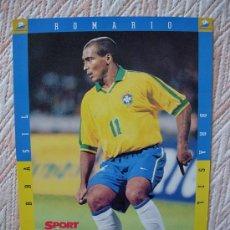 Colecionismo desportivo: COLECCION FRANCE 98 SPORT MUNDIAL FRANCIA 1998 , ROMARIO , BRASIL. Lote 34215316