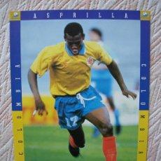 Colecionismo desportivo: COLECCION FRANCE 98 SPORT MUNDIAL FRANCIA 1998 , ASPRILLA , COLOMBIA. Lote 34215362