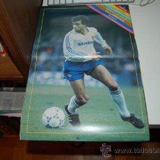 Coleccionismo deportivo: REAL ZARAGOZA: PÓSTER DE VILLARROYA. TEMPORADA 89-90. Lote 34960725