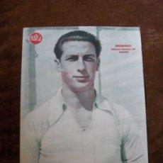 Coleccionismo deportivo: MEDRANO DEFENSA DERECHO DEL MADRID. LÁMINA DE LA REVISTA MARCA AÑOS 40. Lote 35311597