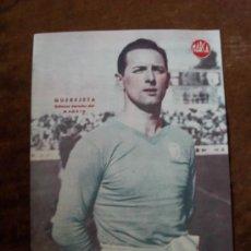 Coleccionismo deportivo: QUEREJETA DEFENSA DERECHO DEL MADRID. LÁMINA DE LA REVISTA MARCA AÑOS 40. Lote 35311610