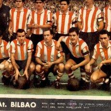 Coleccionismo deportivo: POSTER AT. BILBAO FÚTBOL 1967. Lote 35603583