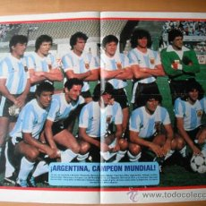 Coleccionismo deportivo: POSTER AS COLOR. ARGENTINA 1982. Lote 35736359