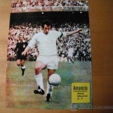 Coleccionismo deportivo: POSTER AS COLOR. AMANCIO. R.MADRID.. Lote 35886642