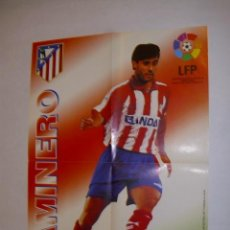 Coleccionismo deportivo: POSTER 30 CM. X 42 CM. KIKO ATLETICO MADRID TEMPORADA 1996-1997 - GOLOSINAS VIDAL - . Lote 36074782