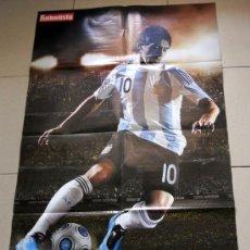 Coleccionismo deportivo: SUPER POSTER DOBLE LEO MESSI ARGENTINA FC BARCELONA.. Lote 36391567
