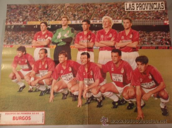 POSTER FÚTBOL - BURGOS - STOICHKOV (BARCELONA) - TEMPORADA 92-93 (Coleccionismo Deportivo - Carteles de Fútbol)