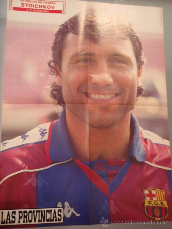 Coleccionismo deportivo: POSTER FÚTBOL - BURGOS - STOICHKOV (BARCELONA) - TEMPORADA 92-93 - Foto 2 - 36417654