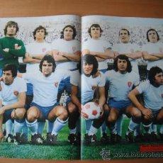 Coleccionismo deportivo: POSTER AS COLOR Nº 187 REAL ZARAGOZA 1974-75. Lote 79638370