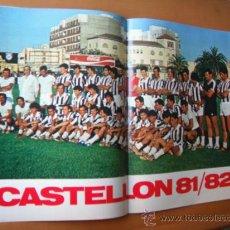 Coleccionismo deportivo: POSTER DON BALON. CASTELLON C.F. 1981-82.. Lote 36731072