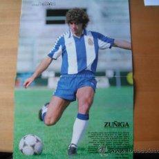 Coleccionismo deportivo: POSTER DON BALON. ZUÑIGA-R.C.D.ESPAÑOL-. . Lote 36739434