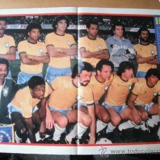Coleccionismo deportivo: POSTER AS COLOR. BRASIL. MUNDIAL 82.. Lote 36745389