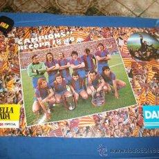 Coleccionismo deportivo - Campions Recopa F.C.Barcelona78-79,propaganda Estrella Dorada y Danone - 36948520