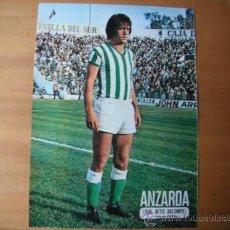 Coleccionismo deportivo: POSTER AS COLOR. 1/2 PAGINA. ANZARDA (REAL BETIS BALOMPIE). AÑOS 76/77. Lote 37186282