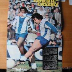 Coleccionismo deportivo: POSTER DON BALON. CASZELY -R.C.D.ESPAÑOL-. AÑOS 70´.. Lote 37384904