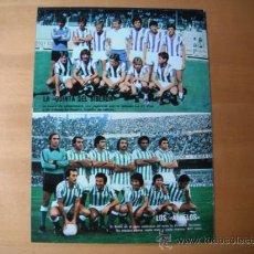 Coleccionismo deportivo: POSTER DON BALON 1/2 PAGINA. REAL BETIS -LOS ABUELOS-. R.VALLADOLID-QUINTA BIBERON-. AÑOS 80´. . Lote 37613267