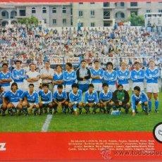 Coleccionismo deportivo: MINI POSTER XEREZ CF 87/88 - REVISTA FUTGOL LIGA 1987/1988 SEGUNDA DIVISION PLANTILLA JEREZ - . Lote 37082315