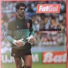 Coleccionismo deportivo: POSTER ZUBIZARRETA (SELECCION ESPAÑOLA) - REVISTA FUTGOL FUTBOL ESPAÑA BARÇA ZUBI - . Lote 37103801