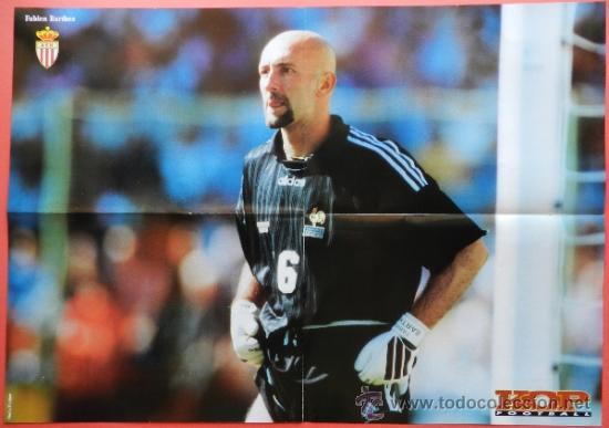 Coleccionismo deportivo: POSTER GRANDE DOBLE ZIDANE (JUVENTUS) - BARTHEZ (FRANCIA) - REVISTA KOP FOOTBALL - - Foto 2 - 37116950
