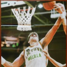 Coleccionismo deportivo: POSTER GIGANTE ARVYDAS SABONIS (LITUANIA) - REVISTA FIBA BASKET - BALONCESTO . Lote 37119032