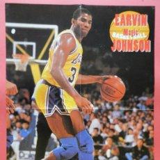Coleccionismo deportivo: POSTER GRANDE EARVIN MAGIC JOHNSON (LOS ANGELES LAKERS) - NBA BASKET BALONCESTO - . Lote 37119521