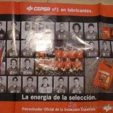 Coleccionismo deportivo: POSTER DE 80X55 DE LA SELECCION ESPAÑOLA DE FRANCIA 98. Lote 37317811
