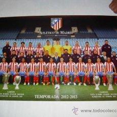Coleccionismo deportivo: POSTER 85X55 CM - ATLETICO MADRID PLANTILLA 2012-2013 OFICIAL PAPEL GRAN CALIDAD - CAJA ATM1. Lote 190868246