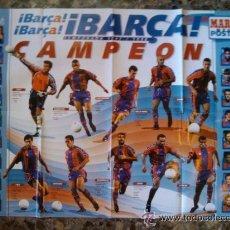Coleccionismo deportivo: POSTER DEL BARÇA CAMPEON 97-98. FC BARCELONA. Lote 37530823