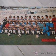 Coleccionismo deportivo: POSTER O CARTEL DE FUTBOL CLUB DEPORTIVO MALAGA 1971 - 1972. Lote 37614275