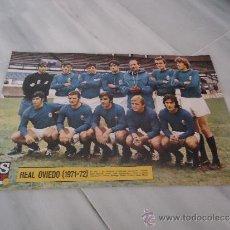 Coleccionismo deportivo: POSTER O CARTEL DE FUTBOL REAL OVIEDO 1971 - 1972 EQUIPACION. Lote 37615705