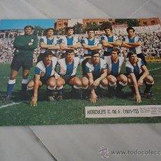Coleccionismo deportivo: POSTER O CARTEL DE FUTBOL HERCULES 1971 - 1972. Lote 37615777