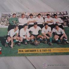 Coleccionismo deportivo: POSTER O CARTEL DE FUTBOL SANTANDER 1971 - 1972 - EQUIPACION. Lote 37616053