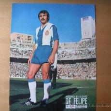 Coleccionismo deportivo: POSTER AS COLOR 1/2 PAGINA. DE FELIPE (R.C.D.ESPAÑOL) AÑOS 70´. Lote 37621023