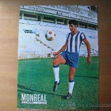 Coleccionismo deportivo: POSTER AS COLOR 1/2 PAGINA. MONREAL (C.D.MALAGA) AÑOS 70´. Lote 37627398