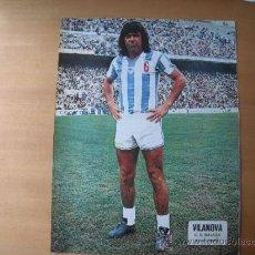 Coleccionismo deportivo: POSTER AS COLOR 1/2 PAGINA. VILANOVA (C.D.MALAGA) AÑOS 70´. Lote 37627423