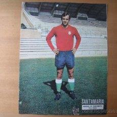 Coleccionismo deportivo: POSTER AS COLOR 1/2 PAGINA. SANTAMARIA (RACING DE SANTANDER) AÑOS 70´. Lote 88345839
