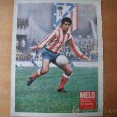 Coleccionismo deportivo: POSTER AS COLOR 1/2 PAGINA. MELO (AT.MADRID) AÑOS 70´. Lote 37627705