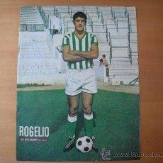 Coleccionismo deportivo: POSTER AS COLOR 1/2 PAGINA. ROGELIO. (REAL BETIS BALOMPIE.) AÑOS 70´. Lote 37628181