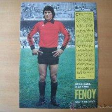Coleccionismo deportivo: POSTER AS COLOR 1/2 PAGINA. FENOY. (CELTA DE VIGO.) AÑOS 70´. Lote 37628188