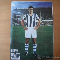 Coleccionismo deportivo: POSTER AS COLOR 1/2 PAGINA. LOPEZ UFARTE. (REAL SOCIEDAD). AÑOS 70´ . Lote 37628359