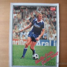Coleccionismo deportivo: POSTER FUTBALL SPORT. 1/2 PAGINA. FRANZ-JOSEF TENHAGEN. BOCHUM. AÑOS 80´. Lote 37841788