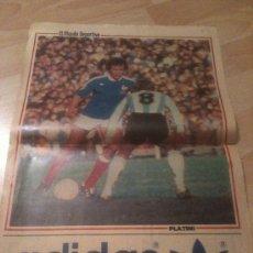 Coleccionismo deportivo: POSTER PLATINI FRANCIA - MUNDIAL 82 - MUNDO DEPORTIVO. Lote 37890761